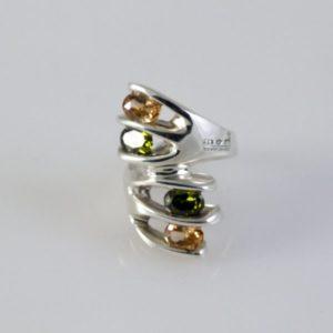 Peridot and Citrine Ring