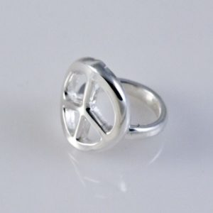 Plain Peace Ring