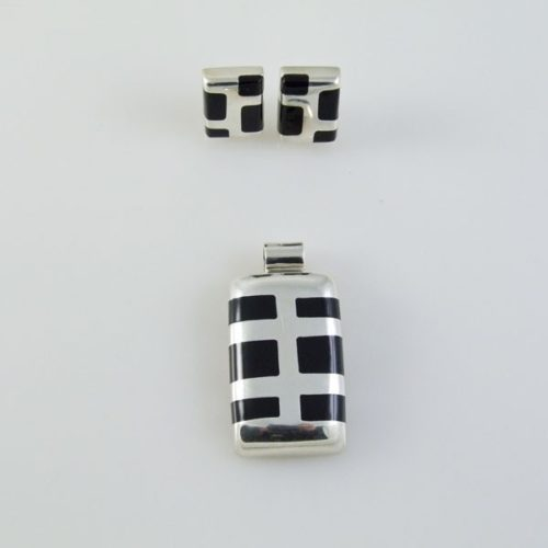 Onyx Set Earring and Pendant