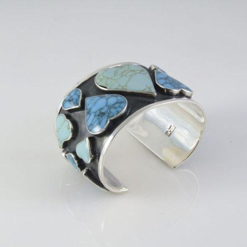 Turquoise Oxidize Heart Bracelet