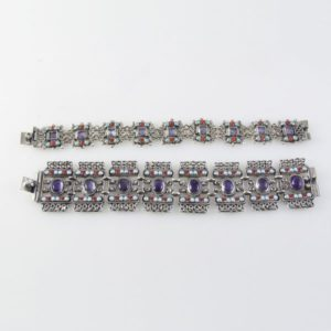 Barrocco Style Amethyst, Coral & Turquoise Bracelet
