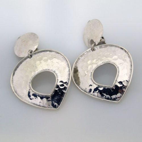 Hammered Clip On Earrings