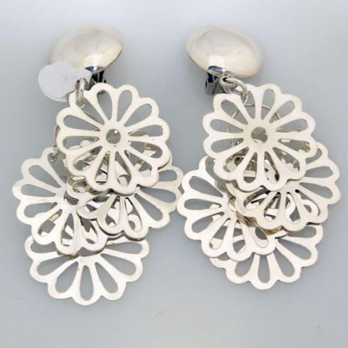 Clip On Flower Earrings