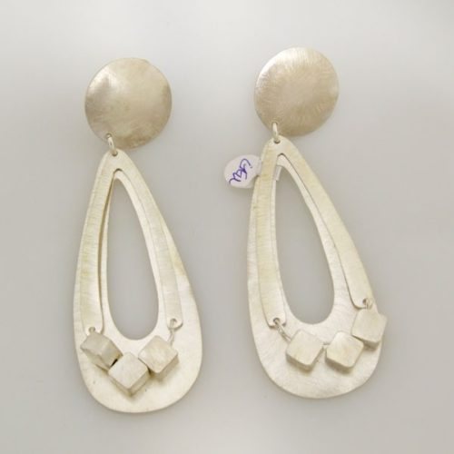Brushed Clip On Earrings