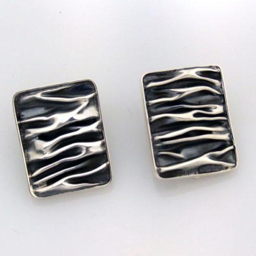 Oxidized Clip On Earrings