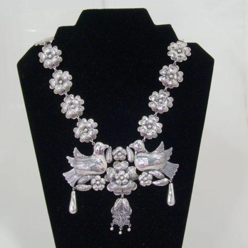 Silver Plain Filigree Set