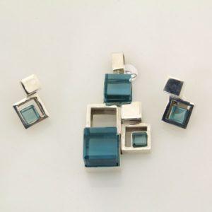 Fashion Blue Topaz Set