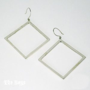 Square Earrings Mexican Sterling Silver