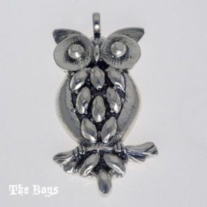 Owl Pendant Mexican Sterling Silver