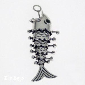 Pendant Fishbone Mexican Sterling Silver