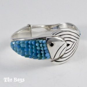 Fish Bracelet Mexican Sterling Silver