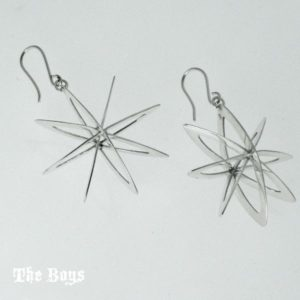 Earrings Cosmic Stars Mexican Sterling Silver