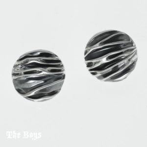 Earrings Crinkle Circle Mexican Sterling Silver