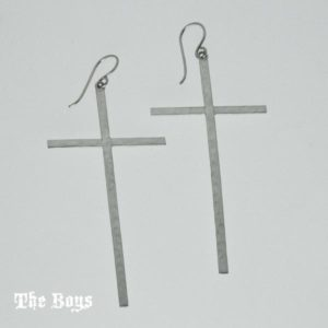 Earrings Cross Mexican Sterling Silver