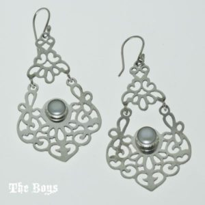 Earrings Cutout Mexican Sterling Silver