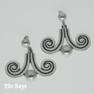 Earrings Hand Finished Mexican Sterling Silver