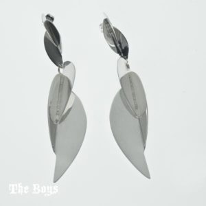 Earrings Leaves Mexican Sterling Silver