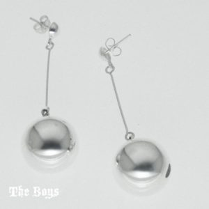 Earrings Ball Mexican Sterling Silver
