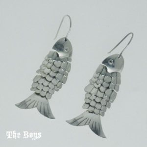 Earrings Fish Mexican Sterling Silver