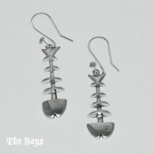 Earrings Small Fishbones Mexican Sterling Silver