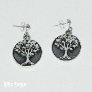 Earrings Tree Mexican Sterling Silver