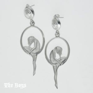 Figurines Earrings Mexican Sterling Silver