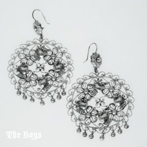 Filigree Earrings Mexican Sterling Silver