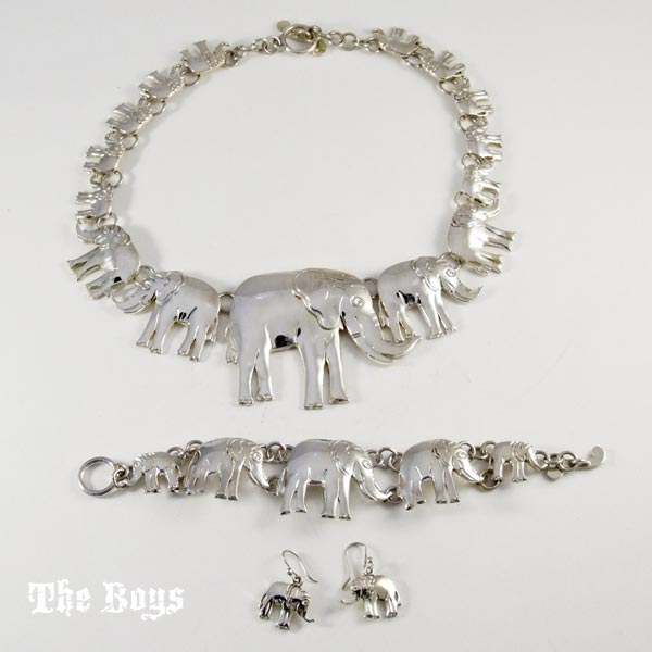 Elephant Necklace And Earrings Costume Jewellery Sets