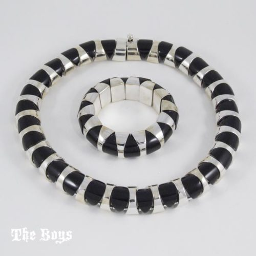 Sets Necklace Bracelet Mexican Sterling Silver