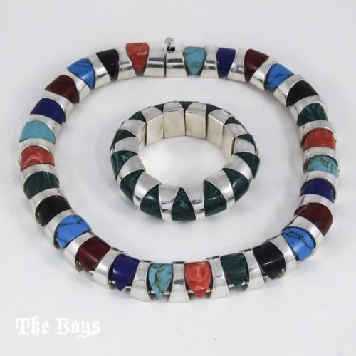 Sets Necklace Bracelet Mexican Sterling Silver